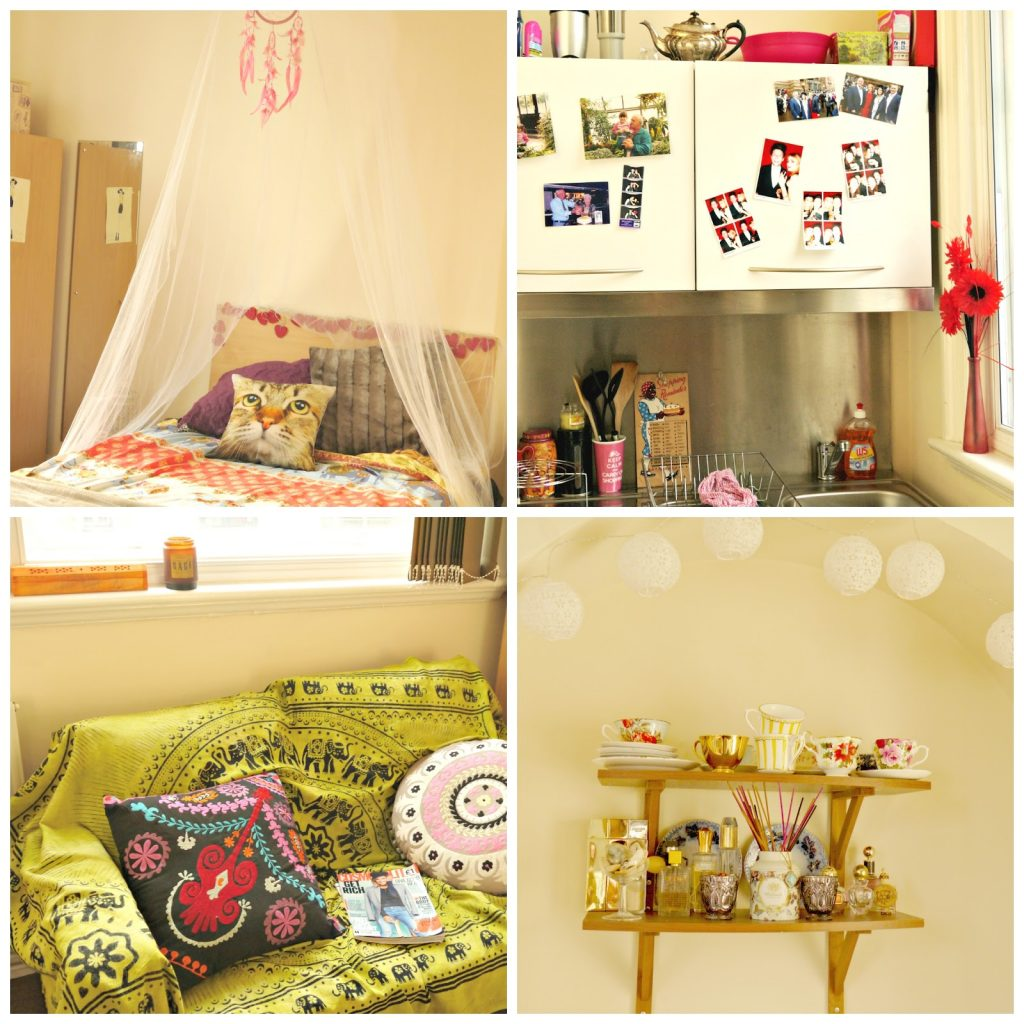 Four of my favourite corners in my Liverpool studio flat